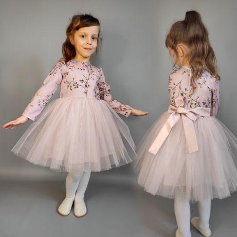 Платье пышное нарядное для девочки 80,86,92,98,104,110,116,122,128