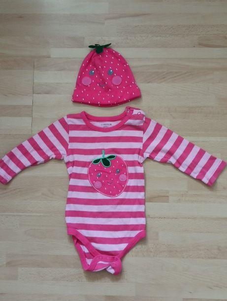 Body niemowlęce + czapeczka rozmiar 68