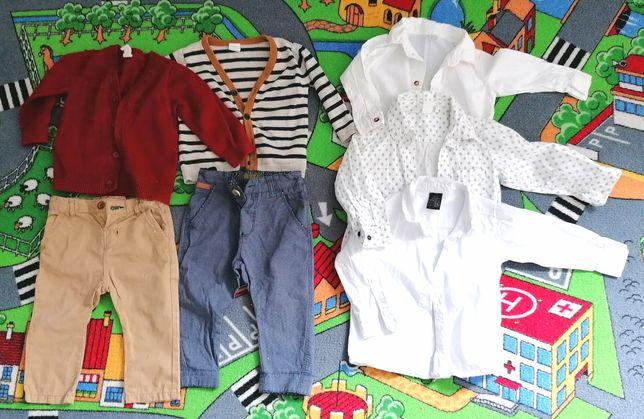 Spodnie eganckie dla chłopca wyjściowe h&m, Zara, 74 - 80, koszula