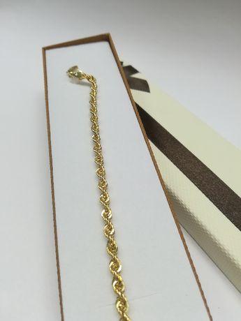 Złota bransoletka kordel złoto 585