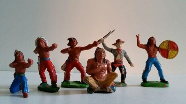 Figurki kowboje i indianie PRL