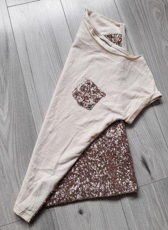Liu Jo - cienka bluza z cekinowymi plecami, ozdobna kieszeń, S/M