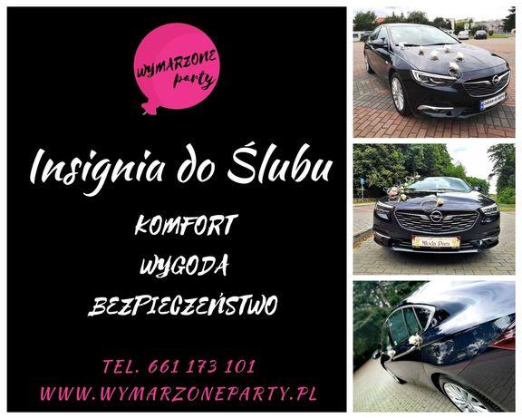 Komfort i bezpieczeństwo. Insignia do ślubu Opel auto samochód na ślub