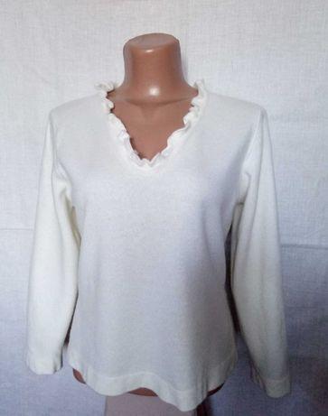 Кашемировая кофточка свитер белая.