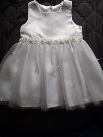 Śliczna sukienka balowa rozm.86/92 wesele sesja święta roczek