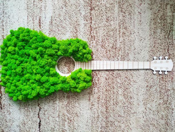 Gitara z mchu, mech chrobotek , prezent dla gitarzysty