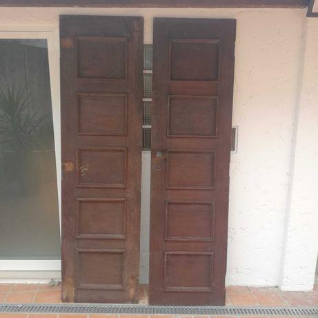 Portas de madeira sucupira maciça
