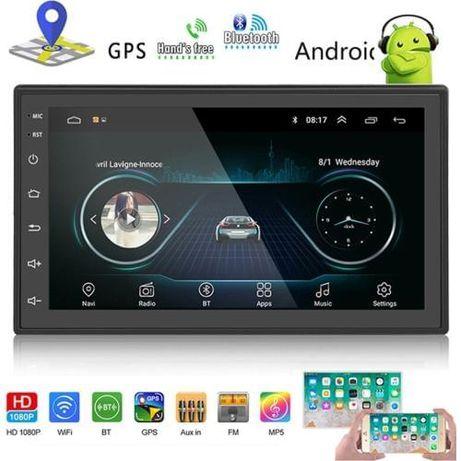 Автомагнитола 2DIN Android 9 BT GPS Андроид 9 блютус жпс двухдиновая