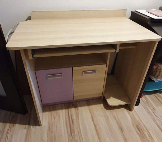 Biurko z szafką pokój dziecięcy młodzieżowy Lorento fiolet