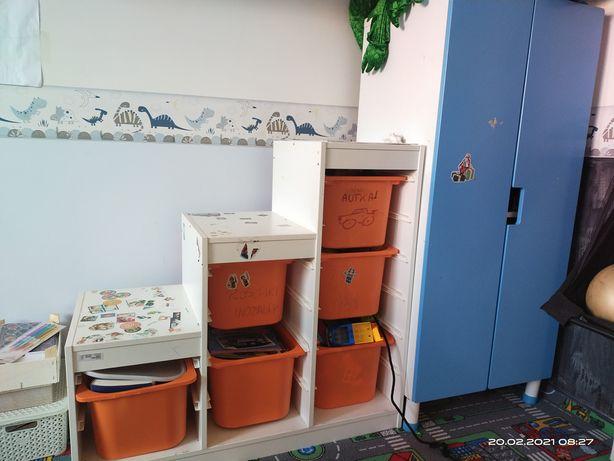 Ikea szafa SMASTAD 150zl + organizer z pojemnikami KALLAX-100zl
