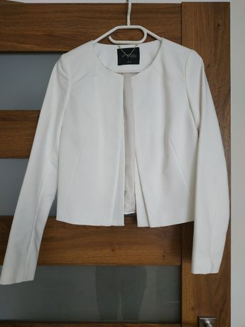 marynarka, krótki elegancki żakiet, biały, top secret, rozmiar 34