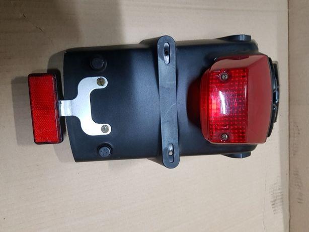 Suzuki DR-Z 400 sm zadupek tył z lampą i miejscem na tablice rej, org,