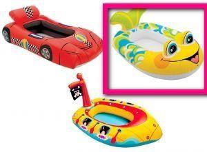 детская лодка рыбка Intex