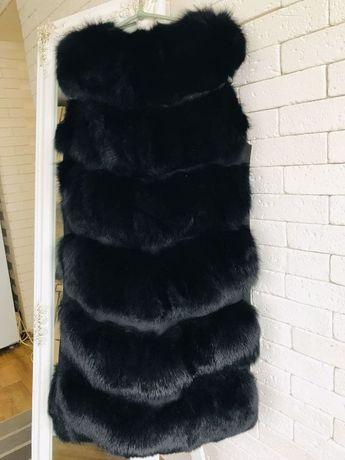 Женская жилетка меховая песцовая