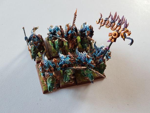 8xCold One Riders Lizardman Warhammer FB