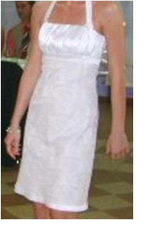 Sukienka kremowa r.38