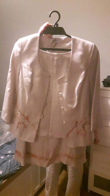 Komplet spódnica bluzka zakiecik