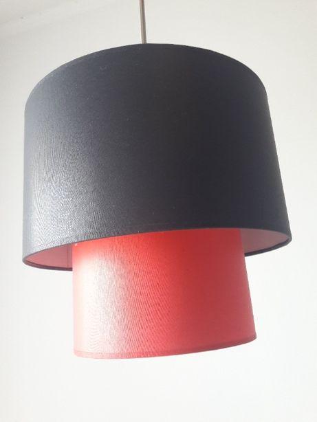 Candeeiro de tecto - Vermelho e Preto