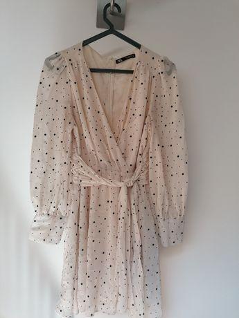 Vestido bolinhas Zara M