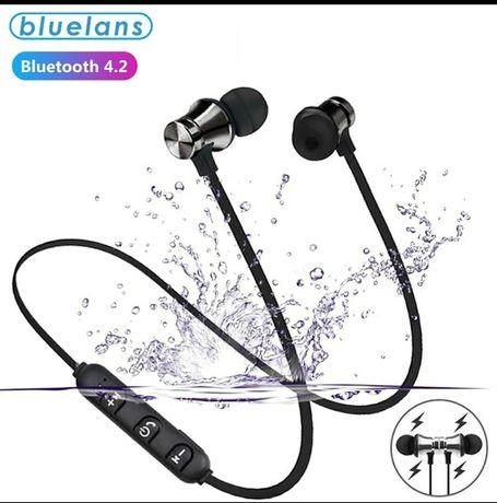 Bezprzewodowe magnetyczne słuchawki sportowe Bluetooth