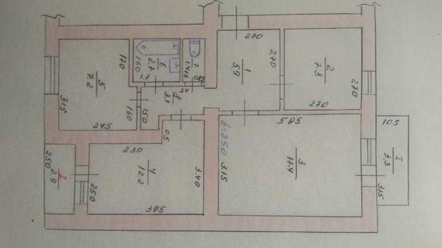 Продам трикімнатну квартиру в центрі міста, Христинівка