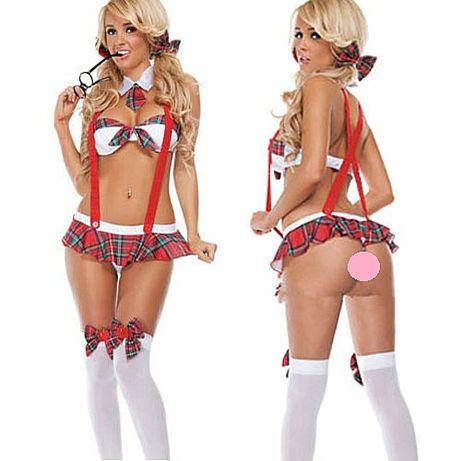 Эротическое белье. Игровой костюм Школьница. Сексуальное боди № 79