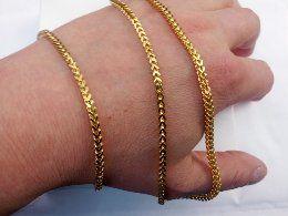 Złot bransoletka,Pozłacana bransoletka,14k,585,ITALY 316L GOLD NOWA.LV