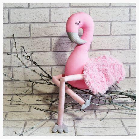 Flaming Amigo Flamingo Hand Made Rękodzieło Przytulanka Dekoracja