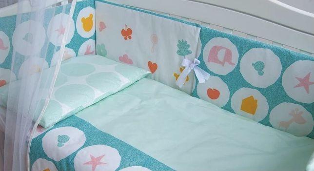 Защита в кроватку Бортики постільний набір комплект в ліжечко Twins