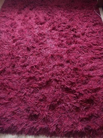 Dywan shaggy czerwony, wełniany 170x244 cm BAKERO
