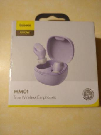 Słuchawki tws baseus purple nowe nieotwierane