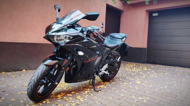 Yamaha YZF R3 2018 bezwypadkowy -wymiana Honda CBR600rr pc40/Yamaha r6