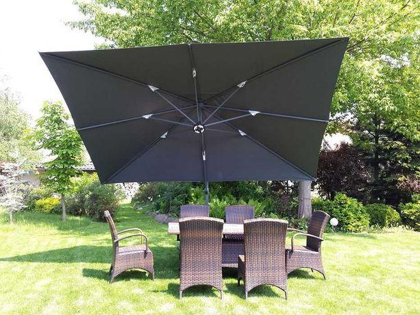Зонт 4x3 м Солнцезащитный кресла стол из ротанга Садовая мебель