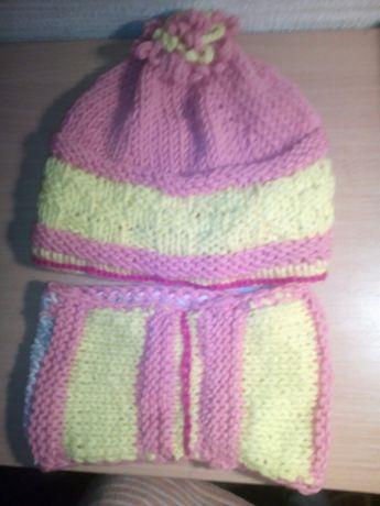 Детская шапка и хомут(весна-осень)