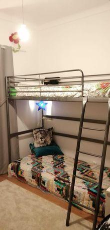 Cama alta IKEA VITVAL x2
