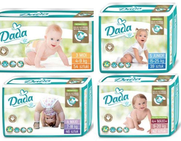Подгузники Дада экстра софт и памперсы Dada экстра кеа золотая 1-6р.