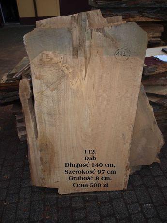 Dąb bale 8 cm szerokie deski blat dębowy na stół, ławę
