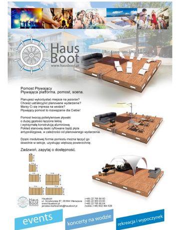 Platforma pływająca, pomost pływający, keja, houseboat, wyprzedaż