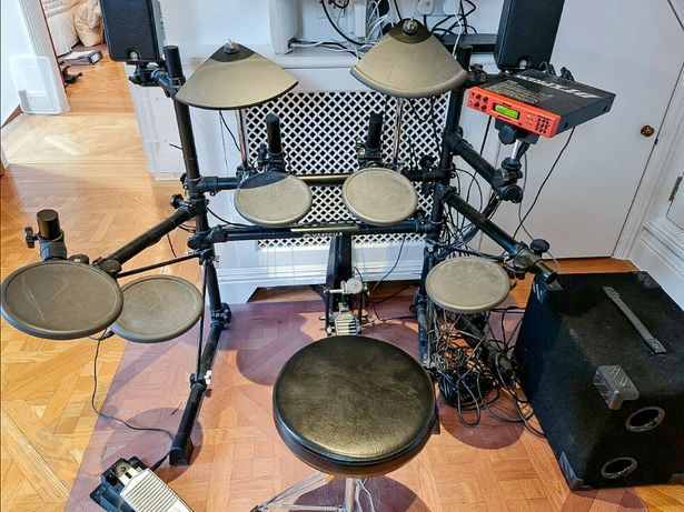 Perkusja Yamaha DTXPRESS + nagłośnienie MS50DR