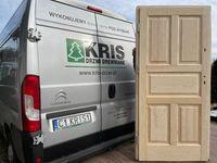 Drzwi drewniane sosnowe wewnątrzklatkowe z oscieżnicą CAŁA POLSKA