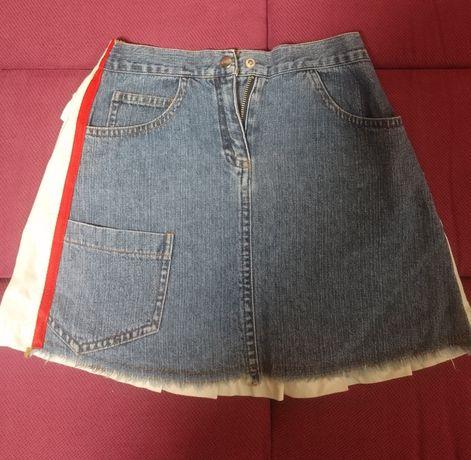Джинсовая юбка для девочки 6-7 лет