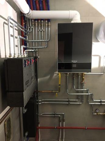 Hydraulik Instalacje wod-kan centralne ogrzewanie kotłownie pellet gaz