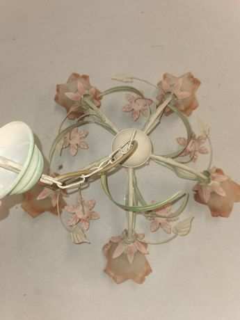 Żyrandol,kinkiety i lampa