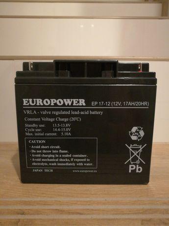 Akumulator Europower 12V 17Ah jak 18Ah