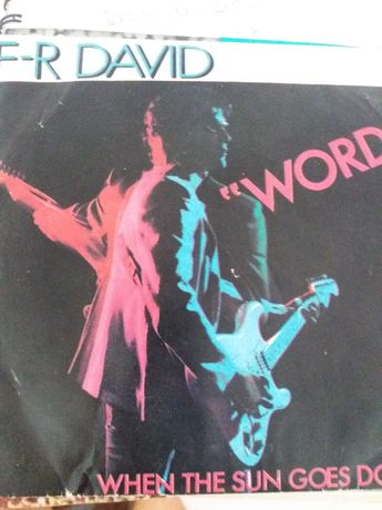 """4 singles antigos - F-R David """"Words""""e outros ."""