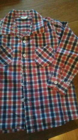Koszula chłopięca modna kratka rozm 110