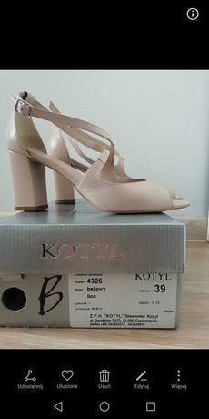 Buty skórzane Kotyl rozmiar 39 ślubne na ślub wesele ślubne