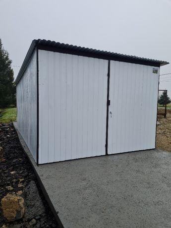 Garaż blaszany 3x5 biały garaże blaszane PROMOCJA kolor w cenie ocynka