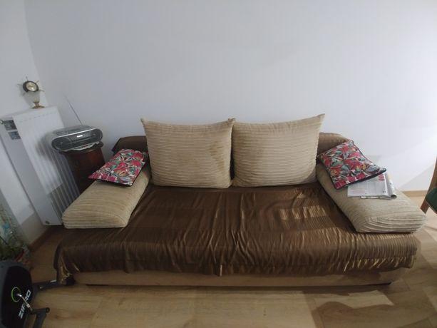 Kanapa sofa beżowa brązowa złota wygodna piękna tanio 160 x 200