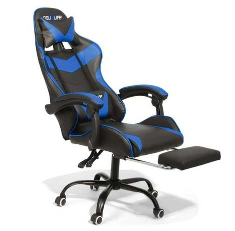 Cadeira Gaming Azul Douxlife Racing Ergonômica 150° (NOVO)